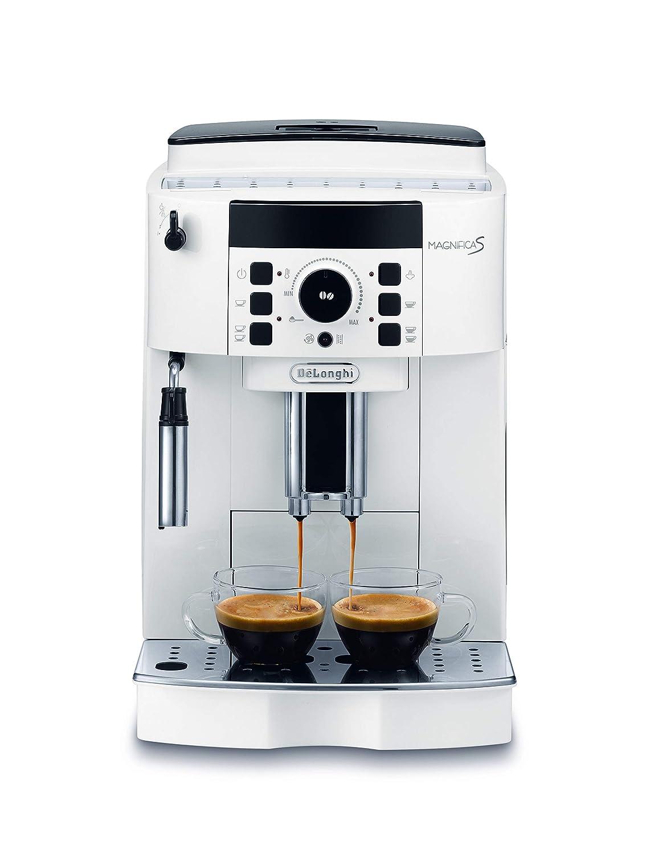 DeLonghi ECAM 21.110.W Cafetera automática, 1450 W, 1.8 litros, plástico, Blanco