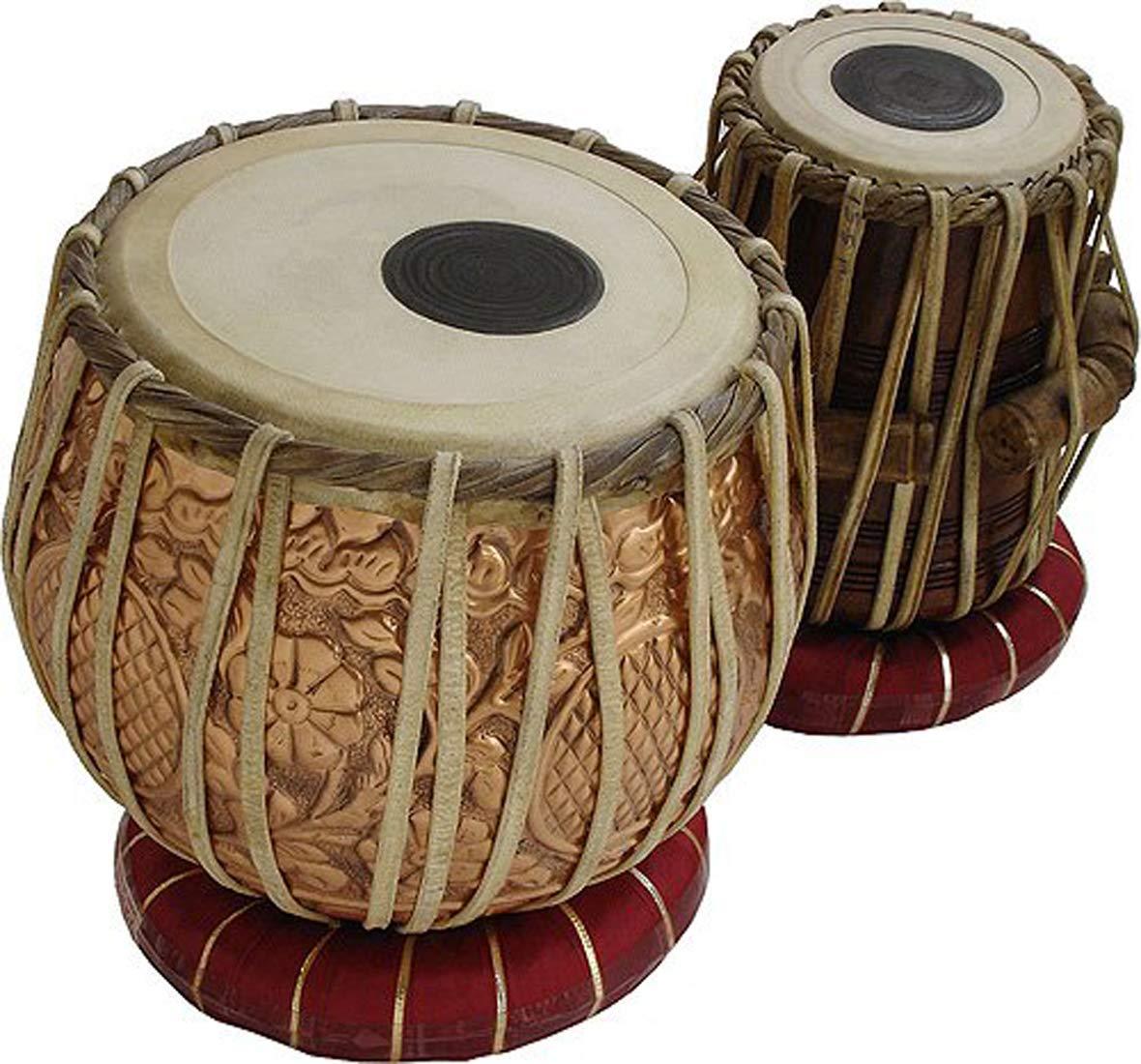 【限定特価】 Makan Professional Copper B07QJ4MFTR Bayan & Bag Wooden Makan Dayan Tabla Set Percussion Musical Instrument with Carry Bag & Cushion B07QJ4MFTR, 枝幸郡:48ffb62a --- a0267596.xsph.ru