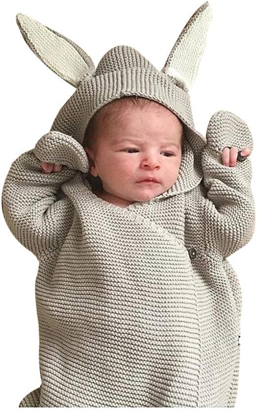 Newborn Baby Sleeping Bag Blanket Sleep Sack Stroller Wrap Swaddle Rabbit Ear US