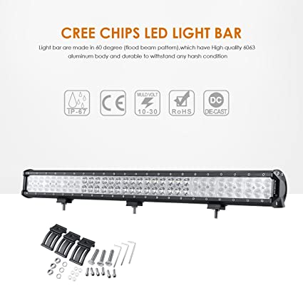 Amazon auxbeam led light bar 30 inch led bar 198w combo 66pcs auxbeam led light bar 30 inch led bar 198w combo 66pcs 3w cree driving light waterproof aloadofball Images