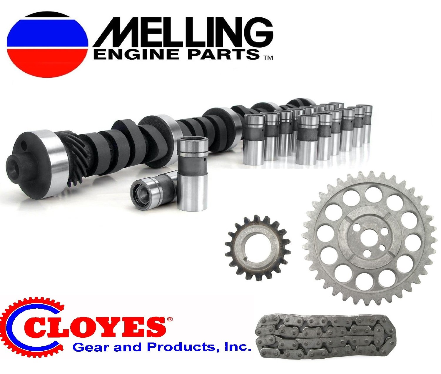 1969-1980 Chevy Chevrolet 350 STOCK Cam & Lifter Kit with timing. Camshaft lifters timing set (Stock Replacement) Elgin Cloyes