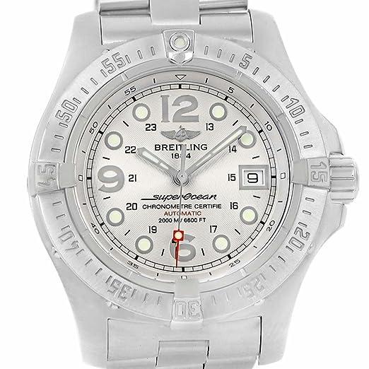 Breitling Superocean automatic-self-wind Mens Reloj a17390 (Certificado) de segunda mano: Breitling: Amazon.es: Relojes