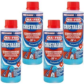 4 x limpiador líquido Parabrisas Ma Fra cristalbel Bandeja para limpiaparabrisas coche