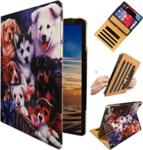 ipad 9.7 pro A1673 case, iPad Pro A1674 Cover, ipad Handle Hand Strap Stand Folio Case Case with Sleep/Wake Function for 2016 Released 9.7 Inch iPad Pro (Dog Design)