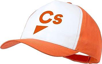 MERCHANDMANIA Gorra Naranja Logo Partido CIUDADANOS Color Cap ...