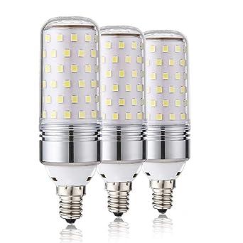 Leools E14 LED Maw LED 15W, 100W Bombillas incandescentes equivalente, 6000K Candelabro blanco luz diurna E14 ...