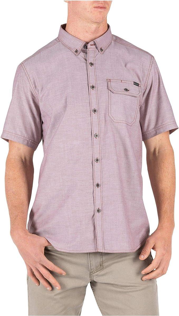 5.11 Camisa táctica de manga corta para hombre, cuello abotonado, estilo 71389