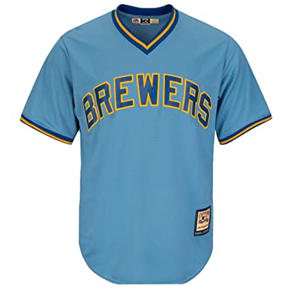 wholesale dealer aa8fc 65033 Majestic Robin Yount Milwaukee Brewers Blue Cool Base Cooperstown Jersey