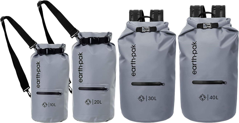 ideal beim Kajak Fahren Angeln Camping Earth Pak Dry Bag Schultergurt und wasserfester Handyh/ülle Bootfahren und Rafting wasserdichter Packsack mit Rei/ßverschluss Tasche