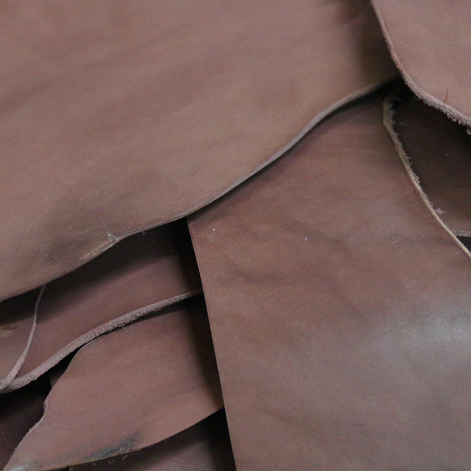5 Pounds of, Large, Usable Holster & Sheath Leather Scraps, Rich Havanna Brown Color, Molds and Tools Well, Great For Leather Crafting, Holster and Sheath Making, USA Hide by Outfitters Supply (Image #4)