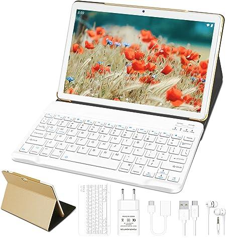 Tablet 10 Pulgadas Android 10.0 GOODTEL Tablet 4GB de RAM, 64GB de Memoria Interna, Escalable 128GB, Quad-Core, WiFi + Dual SIM 8000mAh Batería ...