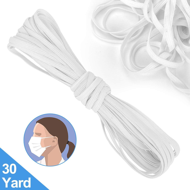 Amazon De 30 Meter Elastische Bänder Zum Nähen Elastische Schnur Maskenmaterial Elastisch Zum Nähen Diy Maske Weiß 6 Mm