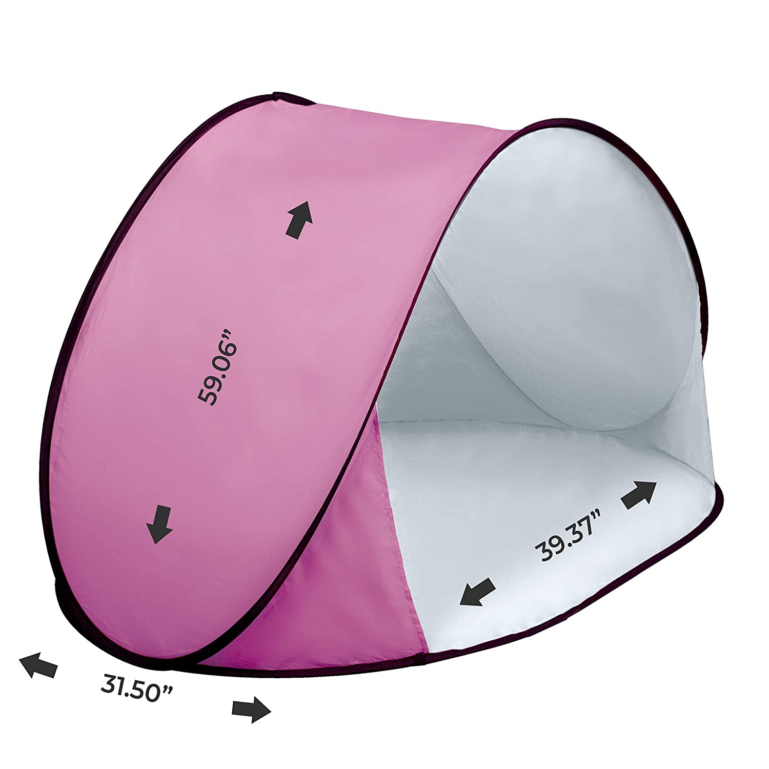 Thermalabs Pluto Pink Beach Tent an Amazing Accessory for Your Kids Comfort Deluxe Lightweight Toddlers Tent with Carrying Bag. Keep Your Baby Away from The Heat of The Sun, from Wind Rain