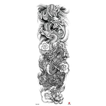 L-HAOMOUREN 3 Piezas Tatuajes temporales para Hombres Robot Brazo ...