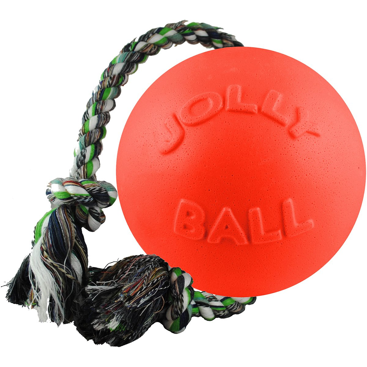 Jolly Pets Romp N Roll Interactive Floats Tug Fetch Pet Dog Chew Toy Orange 4.5'' by Jolly Pets (Image #1)