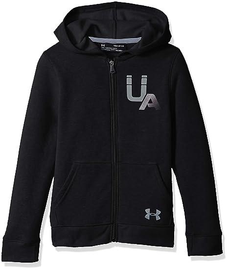 df159216 Amazon.com: Under Armour Boys Rival Logo Full Zip: Sports & Outdoors