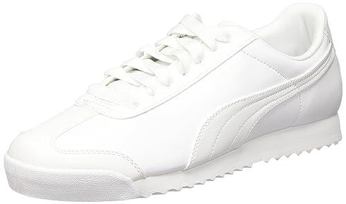 Puma Roma Basic, Scarpe da Ginnastica Basse Uomo, Bianco (White-Light Gray 21), 42.5 EU