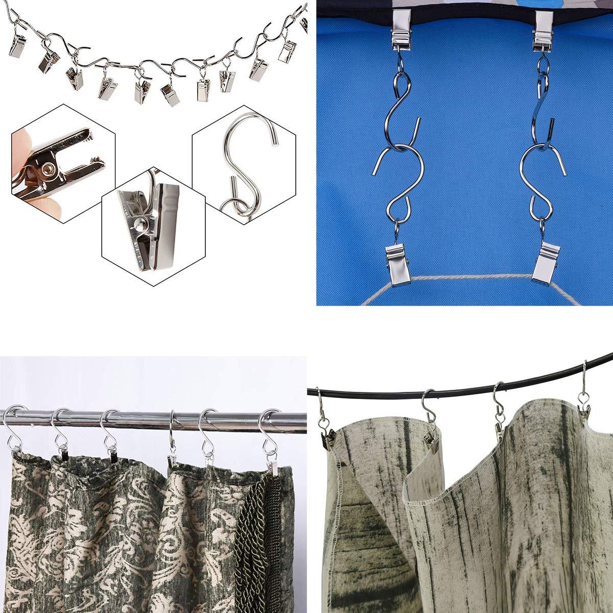 Amazon.com: Oubest - Ganchos colgantes de metal niquelado en ...