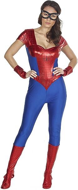 RedRibbonLingerie Oro estándar Mujer Rojo y azul mujer araña super ...