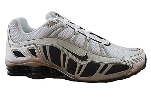 Nike Mens Shox Turbo 3.2 Running Shoes-White/Black/Silver-11.5,