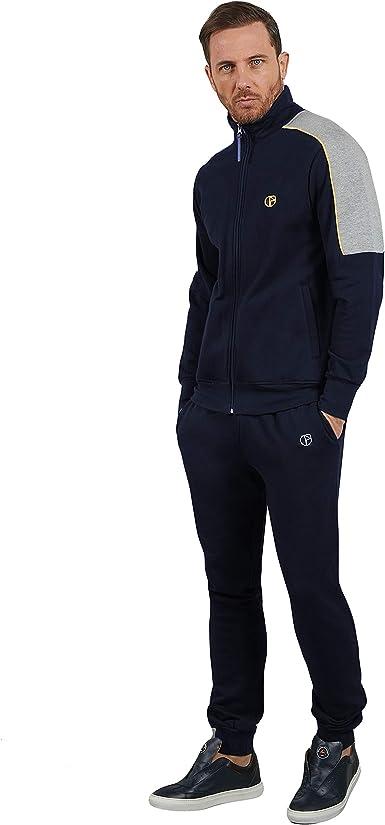 nazarenogabrielli Tuta Uomo Disponibile in Due Varianti Colore Full Zip Cotone Felpato Articolo scatolato