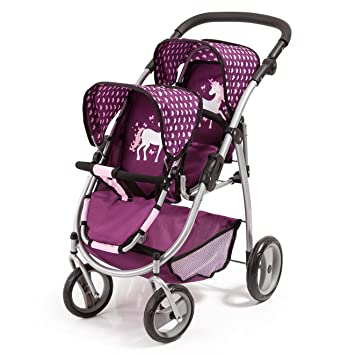 Amazon.es: Bayer Design Silla Gemelos Twin Tandem Violeta, Color Pink, Purple (26537AA): Juguetes y juegos