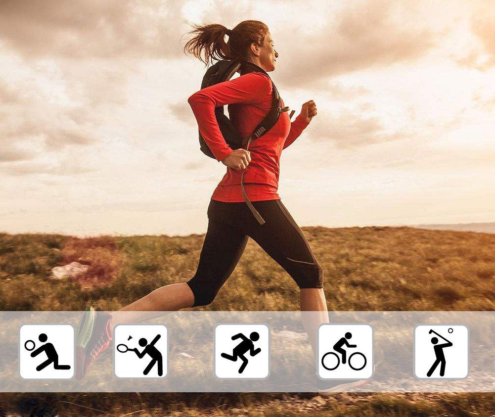 Sports Int/érieurs//Ext/érieurs Barrageon T-Shirt de Compression Manches Longues /Élastique pour Femmes Fitness Base Layer de Sports Respirant S/échage Rapide pour Exercice