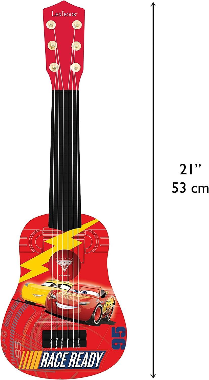 Cars K200DC Disney 3-Mi Primera Guitarra, 6 Cuerdas, 53 cm de Largo, Juguete niño a Partir de 3 años (Lexibook, Color Rojo: Amazon.es: Juguetes y juegos