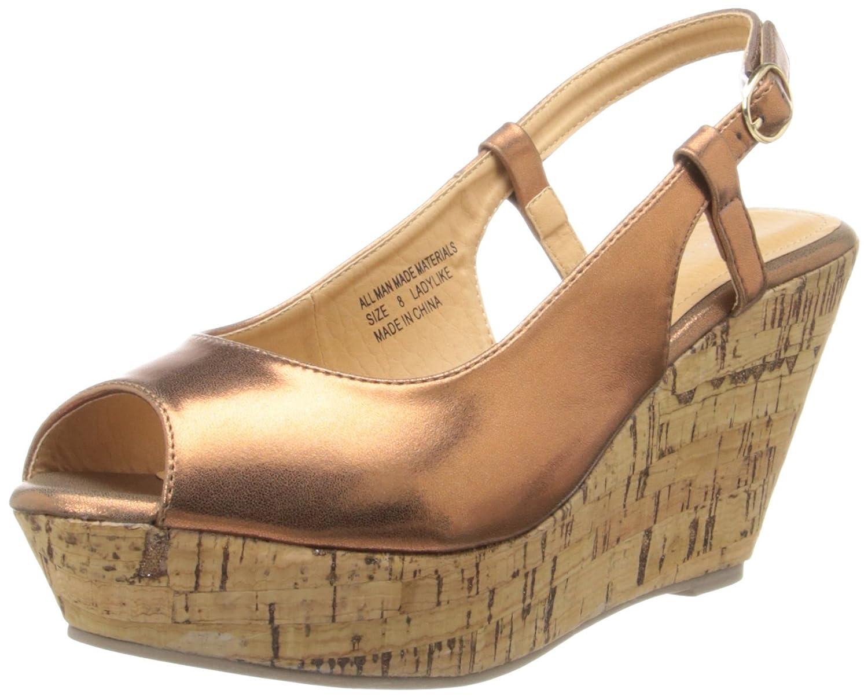 Very Volatile Women's Lady Like Dress Sandal B00DJE5E7I 9 B(M) US|Bronze