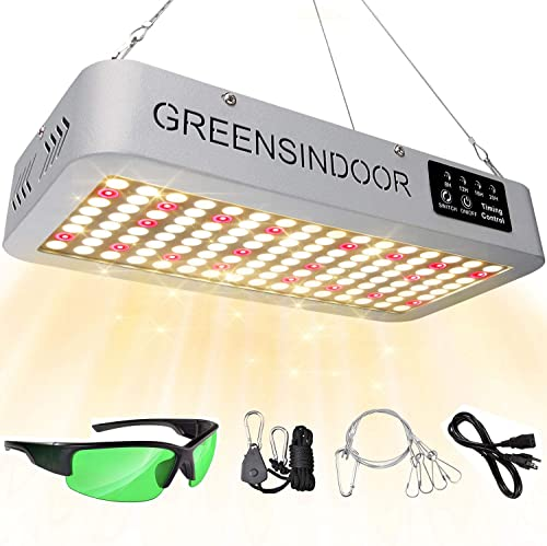 SEAMETAL LED Grow Light Sunlike Full Spectrum Led Grow Lamp with Timer 1500W Plant Growing Lights for Indoor Hydroponic Seedling Greenhouse Growing Light Fixtures