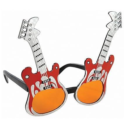 Amscan 208 864 80 gafas de sol de la estrella del rock de la guitarra