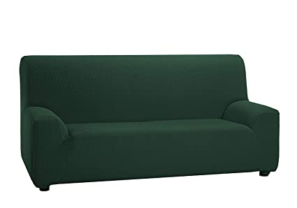 CONFORT HOME MT Funda SOFÁ ELÁSTICA Adaptable (170_hasta_250_cm_(3 Plaza), Verde)