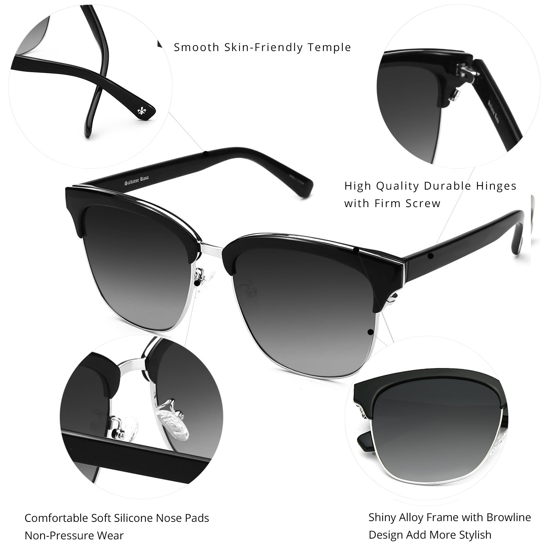 ZENOTTIC Gafas de sol Polarizadas Redondo Retrospectivo Cl/¨/¢sico Retrospectivo Lentes de sol Marco UV400 Para hombres y mujeres /¡/