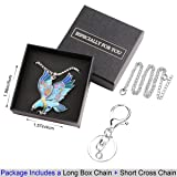 Luckeyui Flying Eagle Pendant Necklaces Gifts for