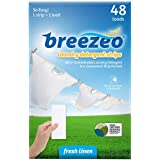 Breezeo Laundry Detergent Strips (Laundry Detergent Sheets), Fresh Linen Scent, 48 Loads – More Convenient than Pods…