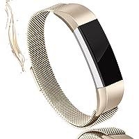 AK Bandas de Fitbit Alta HR, Newest Fitbit Alta HR Banda Correa con Seguridad de Metal Hebilla de Pulsera de Repuesto para Fitbit Alta HR/Fitbit Alta