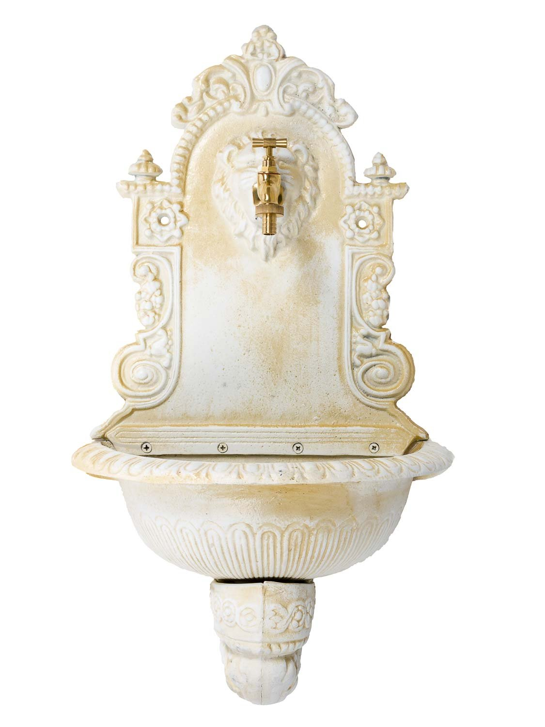 Fountain with basin antique style iron antique white 2'6  (76cm)