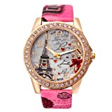 Redvive Diamond Case with Tower Watch PU Leather