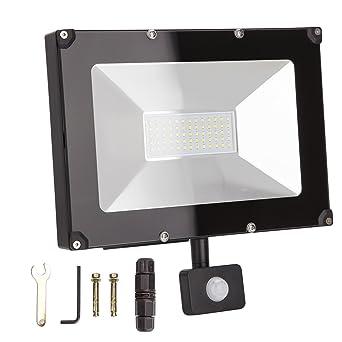 ALOTOA 50W PIR LED Foco Exterior, Blanco Fresco 6000K 5000lm, 250W ...