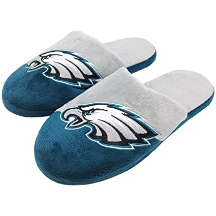 c0b2daa5 Amazon.com : FC Philadelphia Eagles Men's Colorblock Slide Slippers ...