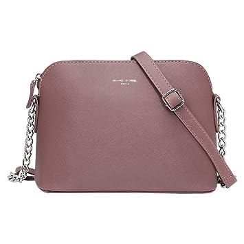 841145e6e850c David Jones - Damen Kleine Umhängetasche - Crossbody Bag mit Kette  Schulterriemen - PU Leder Schultertasche