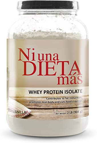 NI UNA DIETA MAS – Whey Protein Isolate Delicious Vanilla No Sugar, No Lactose, Easy to Mix