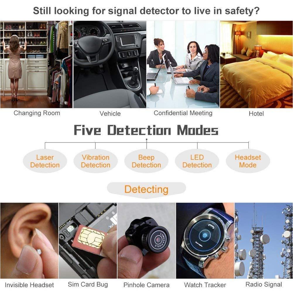 Balscw-Z Anti-Spy cámara Bug RF Detector de señal, cámara Oculta inalámbrica GPS Tracker más Alta sensibilidad Multifuncional buscador de Dispositivos gsm: ...