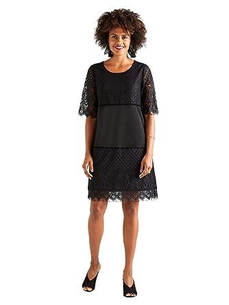1b601c288d8 YUMI Bauhaus Lace Tunic Dress: Amazon.co.uk: Clothing