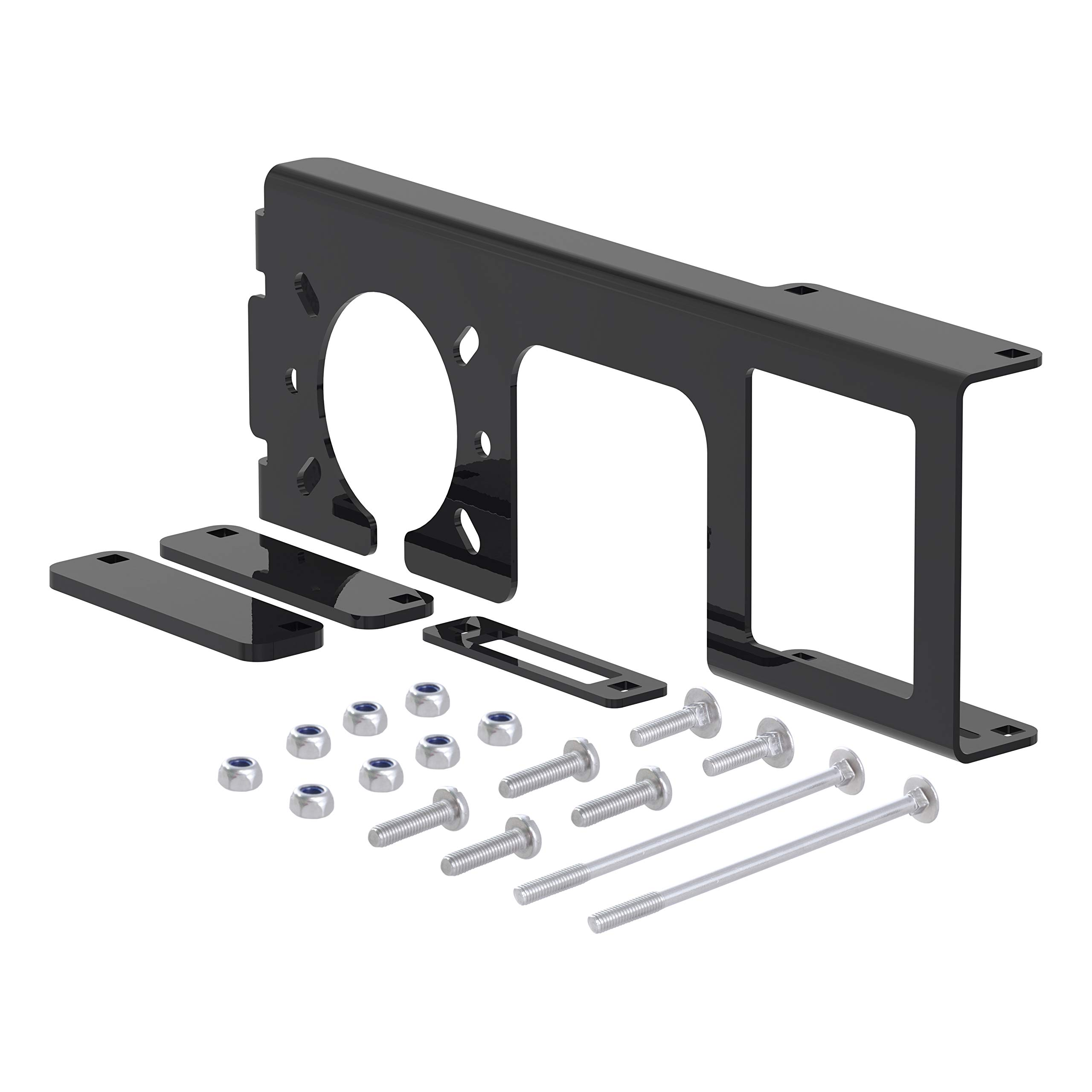 CURT 58000 Easy-Mount Vehicle Trailer Wiring Harness Connector Mounting Bracket for 4-Way or 5-Way Flat and 6-Way or 7-Way Round, Fits 2-Inch Receiver by CURT
