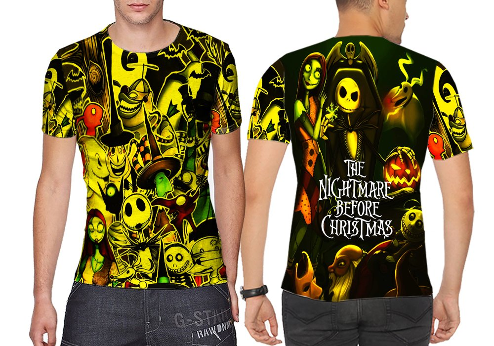 1029ffdd82a Amazon.com  Jack Skellington The Nightmare Before Christmas Man Top  Sublimation Style 4   S to 3XL  Sports   Outdoors