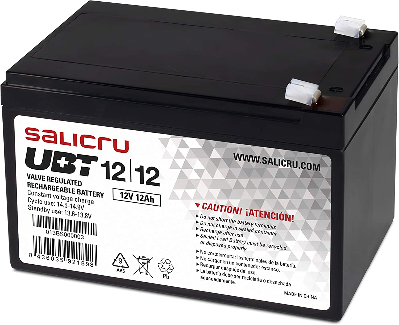 Salicru UBT 12/12 - Batería para SAI (12 Ah, 12 V)