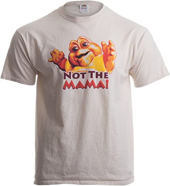 726ecdb2 NOT THE MAMA! Adult Unisex T-shirt / 90s Dinosaur TV Tribute Shirt Brown