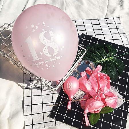yuehuxin Globos de 18 cumpleaños para Fiestas, cumpleaños ...