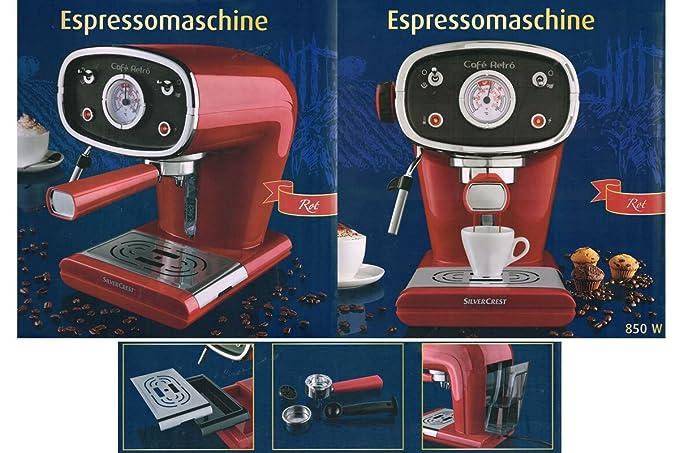 De\'Longhi Silvercrest Espressomschine 15 Bar 850 Watt Siebträger ...